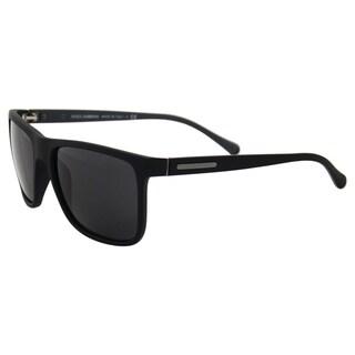 Dolce & Gabbana DG 6086 2805/87 - Black Rubber/Grey by Dolce & Gabbana for Men - 56-17-140 mm Sunglasses