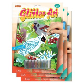 ArtLover Animal-themed Glitter Art Activity Kit (Set of 3)