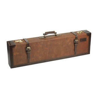 Browning John M. Browning Crazy Horse Leather, Brown Fitted Gun Case