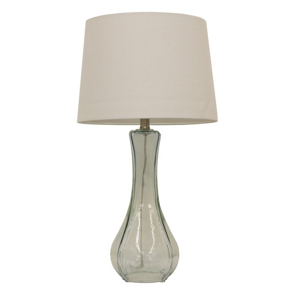 Soft Blue Glass Table Lamp
