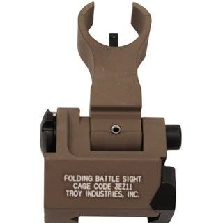 Troy Industries Front HK Style Sight Folding, Tritium, Flat Dark Earth