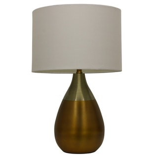 Decor Therapy Satin Brass and Antique Brass Table Lamp