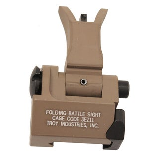 Troy Industries Front Folding Style M4 Sight Flat Dark Earth, Tritium