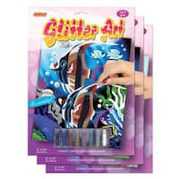 Art Lover Glitter Art Board (Pack of 3)