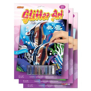Art Lover Glitter Art Board (Pack of 3)