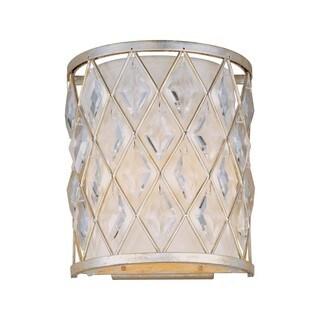 Maxim Diamond Silver 2-light_ Wall Sconce (As Is Item)