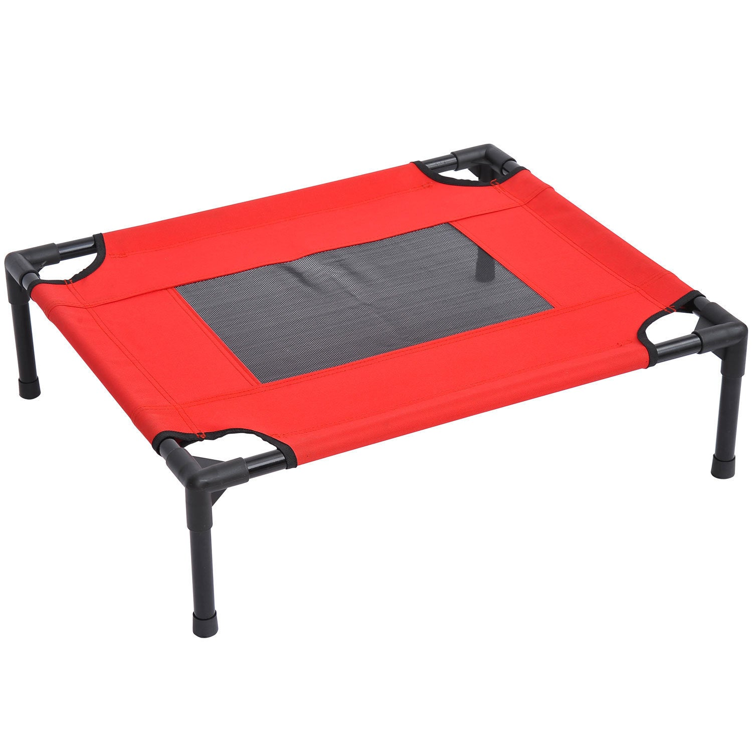 Aosom Pawhut Indoor/Outdoor Elevated Dog Bed (Red)
