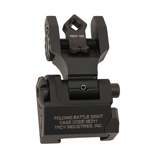 Troy Industries DOA Rear Sight Black, Folding, Tritium