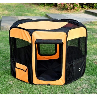 "Pawhut 36"" Deluxe Soft Sided Folding Pet Playpen"