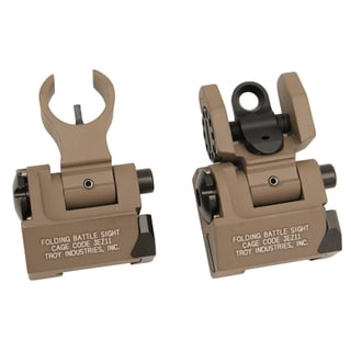Troy Industries Micro- HK Sight Set Flat Dark Earth, Folding