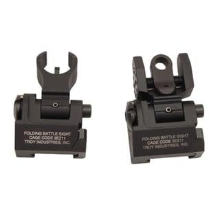 Troy Industries Micro- HK Sight Set Black, Tritium, Folding