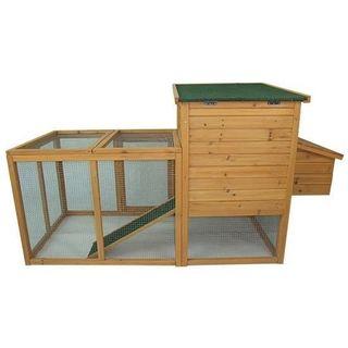 Pawhut Outdoor Wooden Chicken Coop Hen House