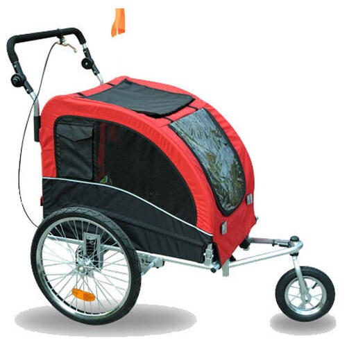 Aosom Elite II Pet Dog Bike Bicycle Trailer Stroller Susp...