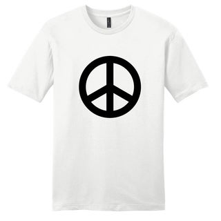 'Peace Sign' Funny White Unisex T-Shirt