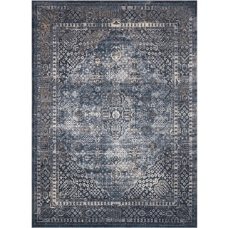 Rug Squared Tucson Navy Area Rug (9' x 12')