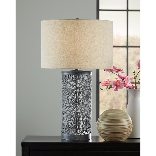 Signature Design by Ashley Traci Antique Black Metal Table Lamp