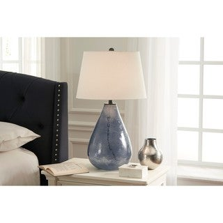 Signature Design by Ashley Taber Blue Glass Table Lamp
