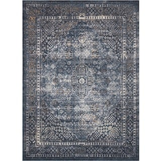 Rug Squared Tucson Navy Area Rug (5'3 x 7'7)