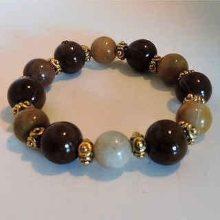 Brown Quartz Beaded Bracelet