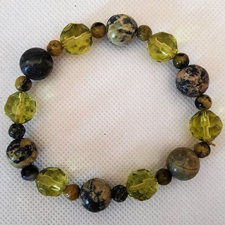 Yellow Turquoise Gemstone Beaded Bracelet