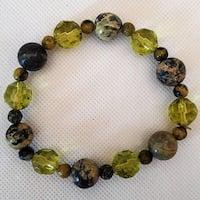 Yellow Turquoise Gemstone Beaded Bracelet