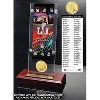 Super Bowl 51 Ticket & Bronze Flip Coin Acrylic Desktop