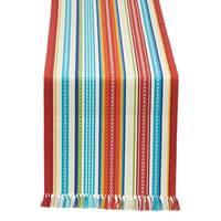 """Baja Stripe Fringed Table Runner - 13 x 72"""""""