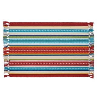 Baja Stripe Fringed Placemat Set of 6