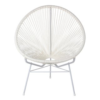 Acapulco Pure White Woven Lounge Chair