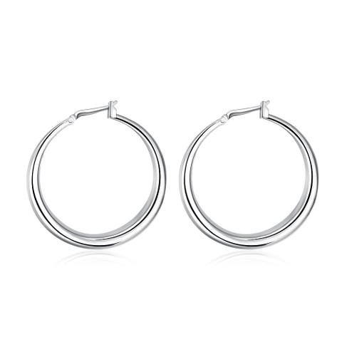 Hakbaho Jewelry Sterling Silver Abstract Large Hoops