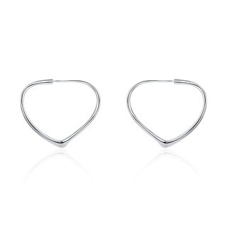 Hakbaho Jewelry Sterling Silver Angular Curved Hoops