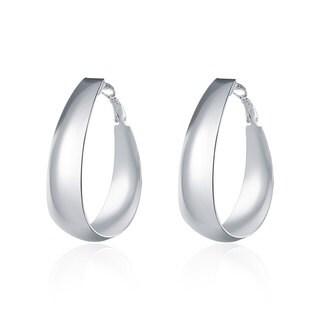 Sterling Silver Medium-sized Hoop Earrings