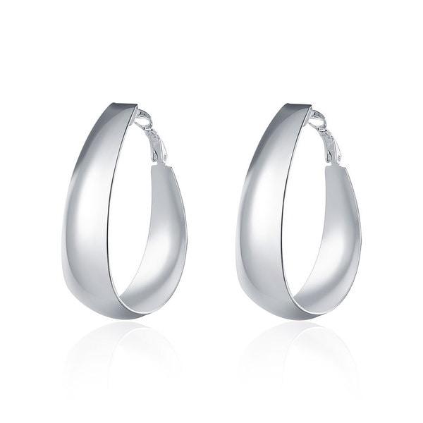 Hakbaho Jewelry Sterling Silver Medium Sized Hoop Earrings