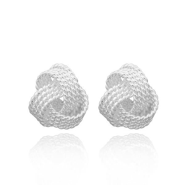 Hakbaho Jewelry Sterling Silver Love Knot Earring