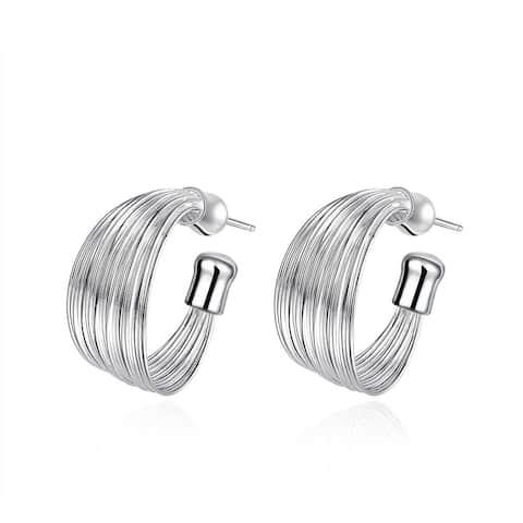 Hakbaho Jewelry Sterling-silver Wire Layering Hoop Earring