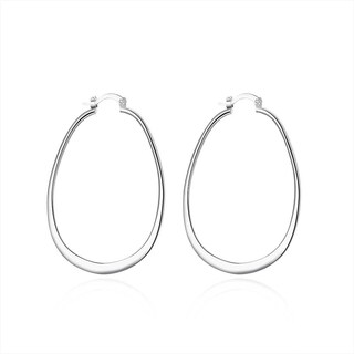 Hakbaho Jewelry Sterling Silver Large Cut Hoop Earring
