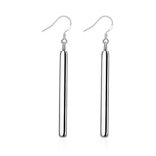 Hakbaho Jewelry Sterling Silver Clean-cut Vertical Drop Earring