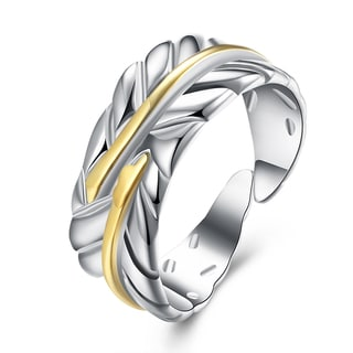 Hakbaho Jewelry Sterling Silver Resizable Leaf Ring