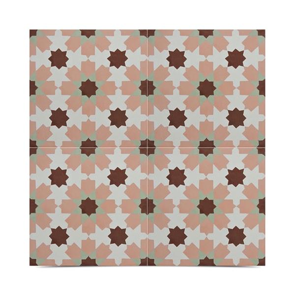 Pack of 12 ahfir multicolor handmade cement moroccan tiles for Handmade cement tiles