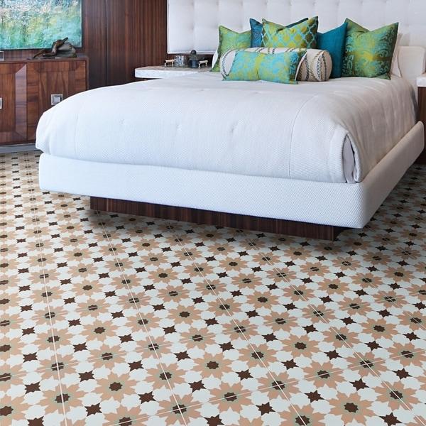 Handmade Ahfir in Pink, Green, Brown Tile, Pack of 12 (Morocco). Opens flyout.