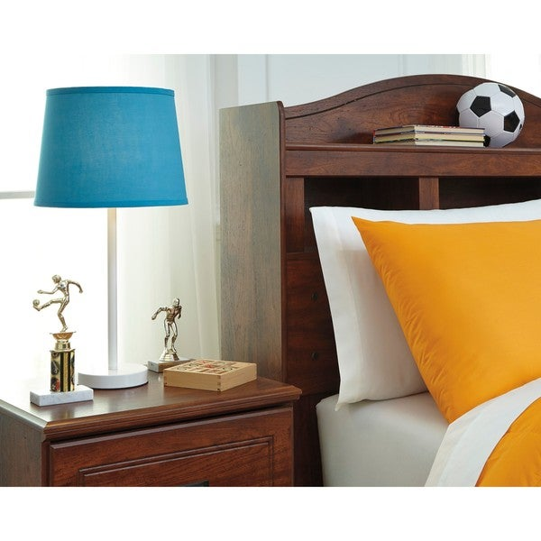 Signature Design by Ashley Shonie Teal/White Metal Table Lamp