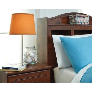 Signature Design by Ashley Shonie Orange/Silver Finish Metal Table Lamp