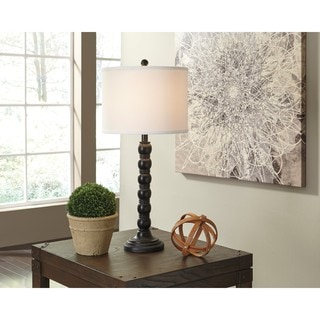 Signature Design by Ashley Shellany Antique Black Poly Table Lamp (Set of 2)