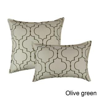 Sherry Kline Hampton Embroidered Reversible Combo Decorative Pillow (Set of 2)