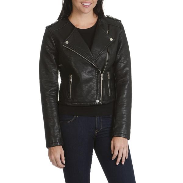 Shop Ashley By 26 International Outerwear Junior Women S Black Faux