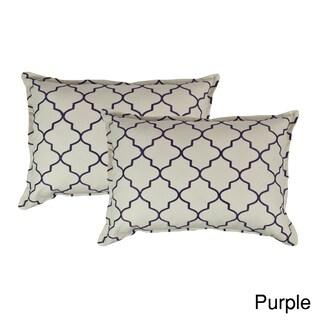 Sherry Kline Westbury Embroidered Reversible Boudoir Decorative Throw Pillow (Set of 2) (Option: Purple)