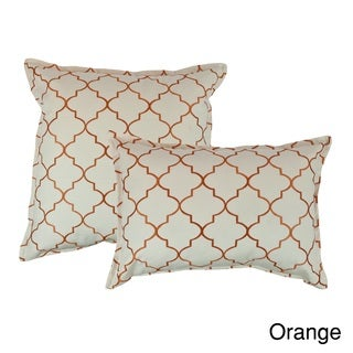 Sherry Kline Westbury Embroidered Reversible Combo Decorative Throw Pillow (Set of 2)