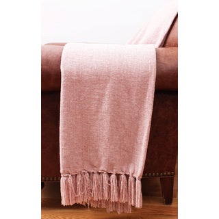 Thro by Marlo Lorenz Cece Chenille Fringe Throw