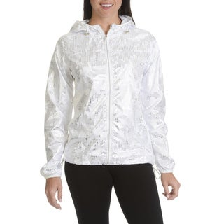 Athletic Collection Women's Junior Silver Packable Hooded Jacket