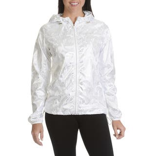 Athletic Collection Women's Junior Silver Packable Hooded Jacket|https://ak1.ostkcdn.com/images/products/14206433/P20800622.jpg?impolicy=medium